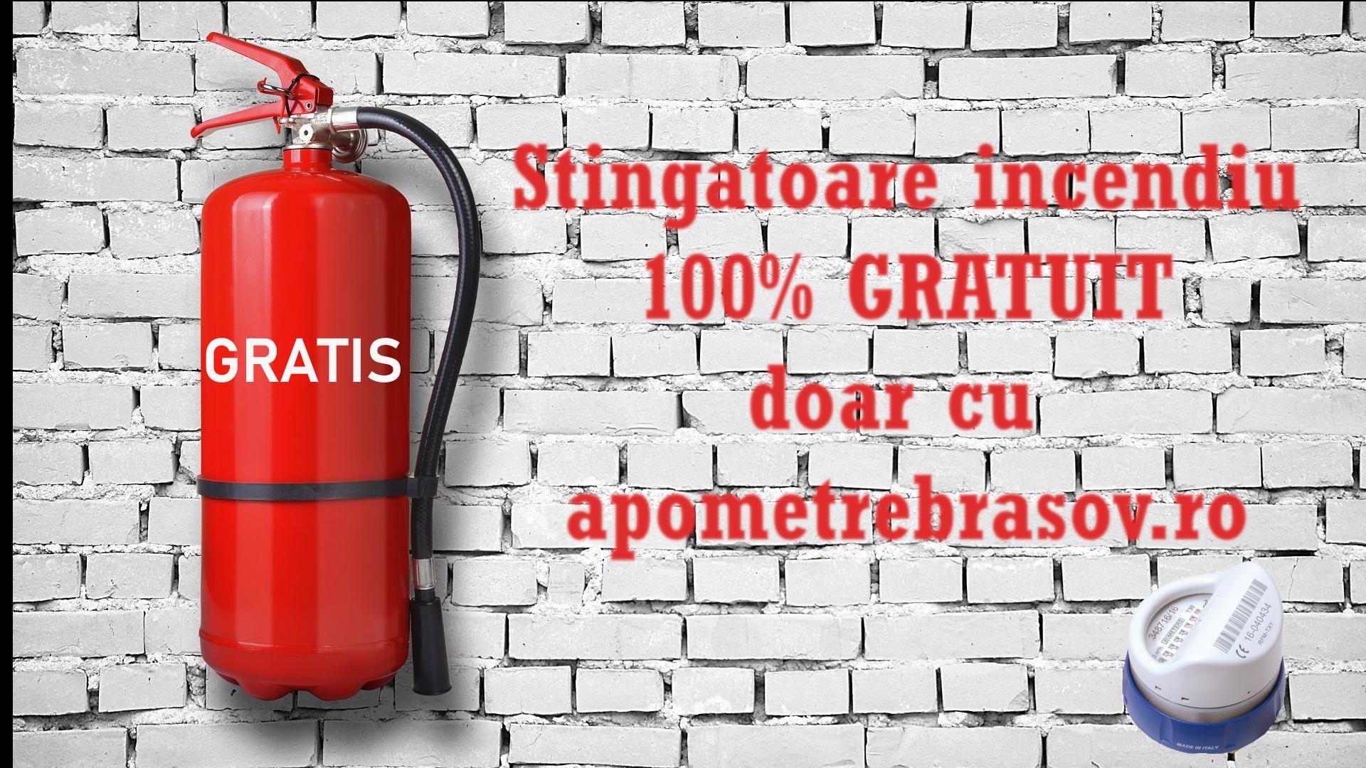 Dotam 100% GRATUIT cu stingatoare de incendiu scarile/etajele blocurilor!